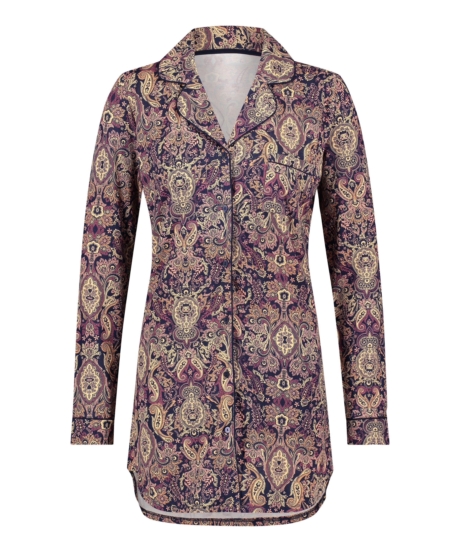 Pyjamatop Paisley, Blauw, main