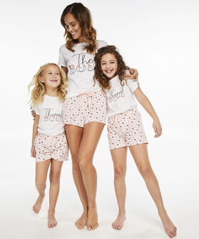 Korte pyjamaset Teens, Wit