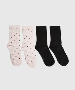 2 paar Sokken Viscose, Roze