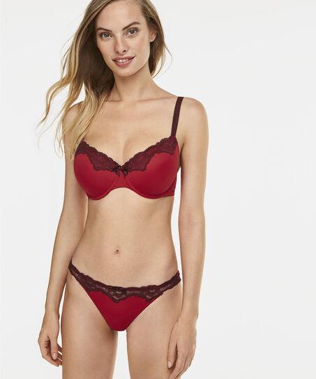 Voorgevormde beugel bh Secret lace, Rood