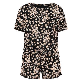 Korte pyjama set, Zwart