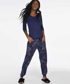Pyjamabroek Jersey loose fit , Blauw