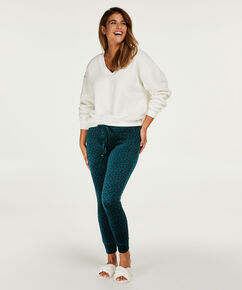 Legging Velours, Groen