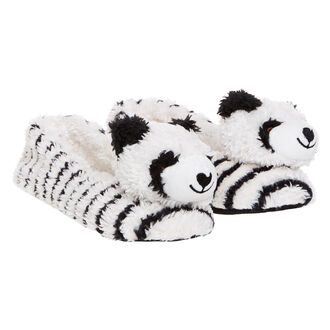 Ballerina slippers Animal Panda, Wit