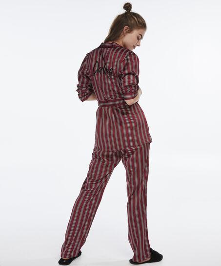 Pyjamabroek Satin, Rood