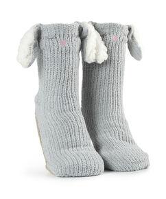 Slof sokken Fluffy Bunny, Grijs