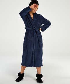 Lange badjas Fleece, Blauw