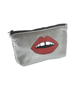Make-up tas Lips, Grijs