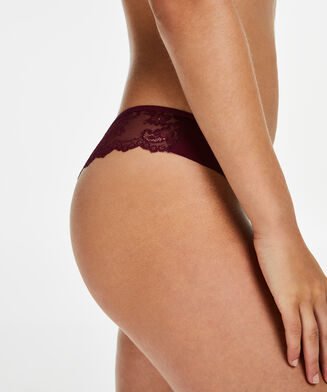 Invisible string Lace back, Paars