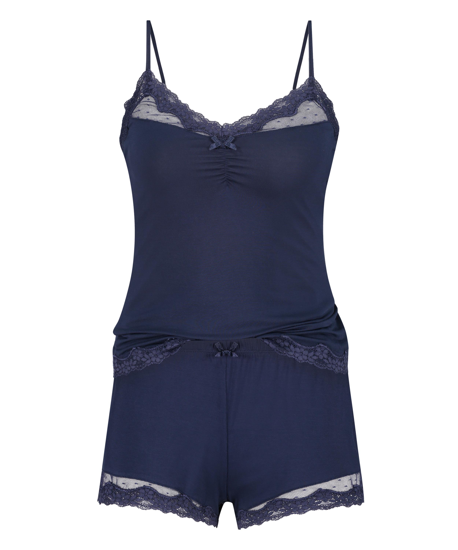 Korte pyjama set, Blauw, main