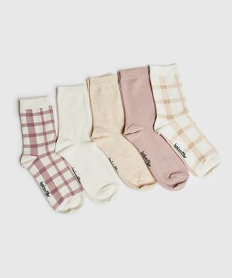 5 paar sokken Katoen, Zwart