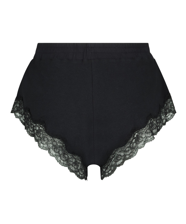 Short rib lace Mia, Zwart, main