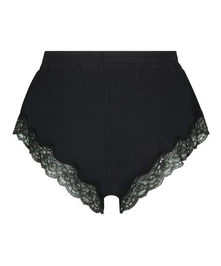 Short rib lace Mia, Zwart