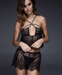 Pyjama set Lace , Zwart
