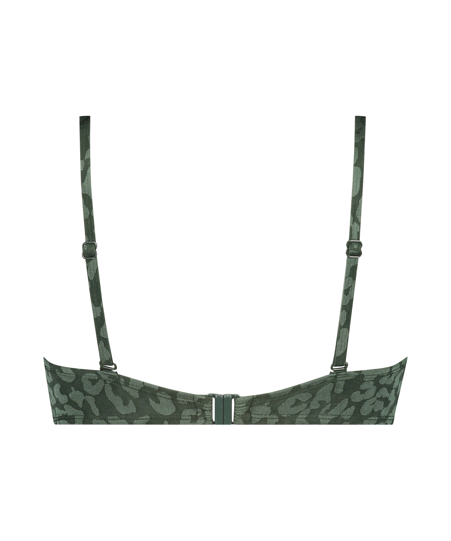 Voorgevormde push-up beugel bikinitop Tonal Leo Cup A - E, Groen, main