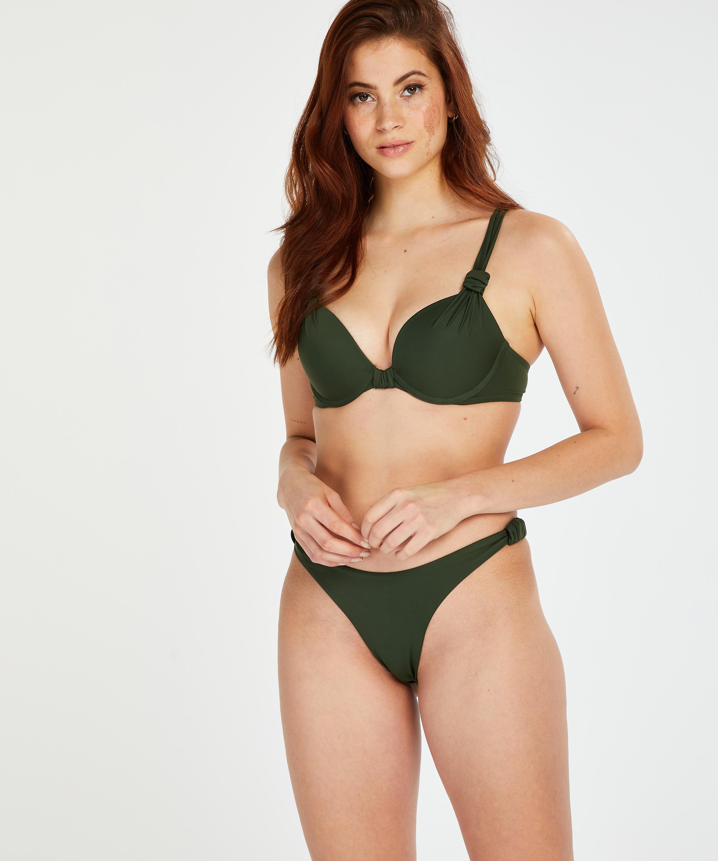 Hoog uitgesneden bikinibroekje Luxe, Groen, main