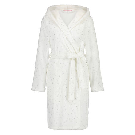 Badjas fleece, Wit