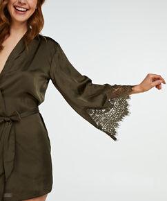 Kimono Satin lace, Groen