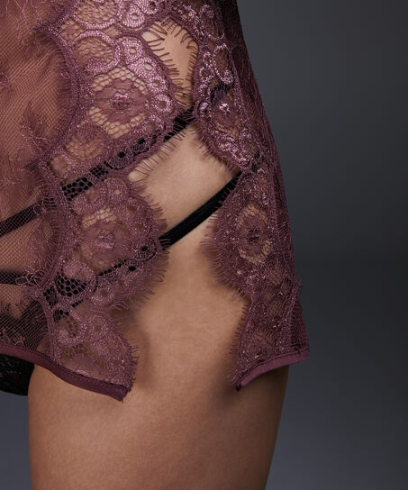 Slipdress Allover Lace, Roze