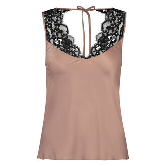 Cami top satin Poppy, Huidskleur