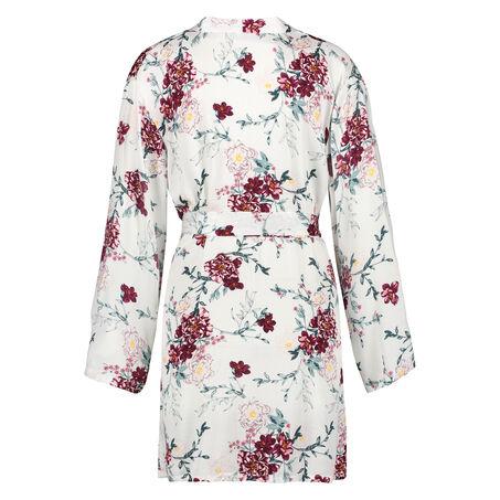 Kimono woven blossom, Wit