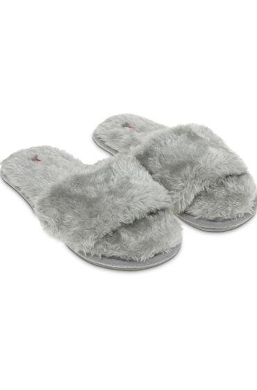 Hunkemöller Huisslippers Fur Top Grijs