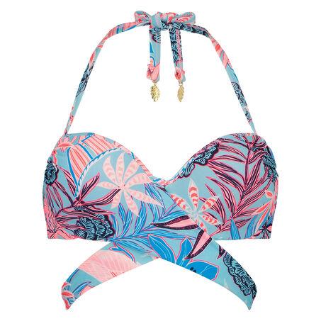 Voorgevormde beugel bikinitop Juxtaflo, Blauw