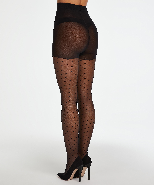 Panty 15 Denier Dot, Zwart, main