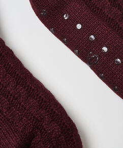 Slof Sokken Knit, Rood