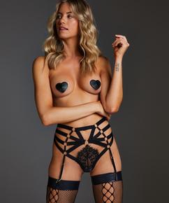 Hoge string Femme, Zwart