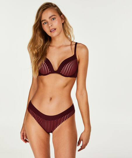 Voorgevormde push-up beugel bh Pia, Rood