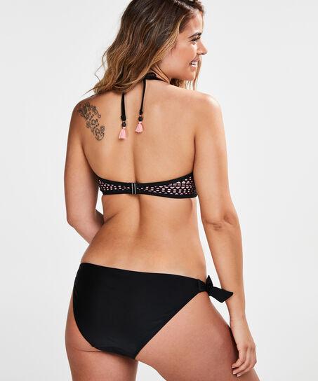 Voorgevormde strapless beugel bikinitop Nala, Zwart