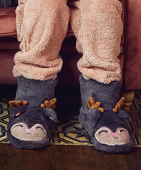 Pantoffel Rendier, Grijs