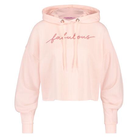Lange mouwen fleece sweater, Roze