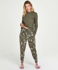 Petite pyjamabroek Flower Words, Groen