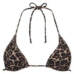 Triangle bikinitop mini Leopard, Bruin