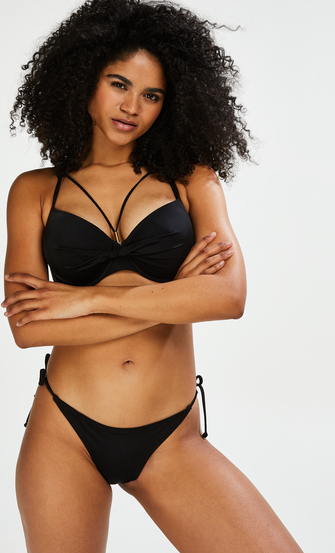 Voorgevormde beugel bikinitop Sunset Dream, Zwart