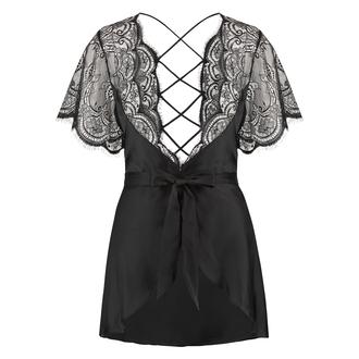 Kimono satin Coco, Zwart