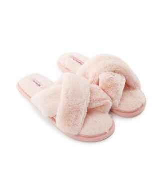 Cross Straps Indoor Sandal, Roze