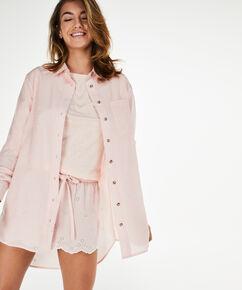 Nachthemd Menshirt Chambray, Roze