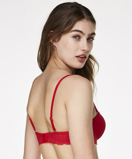 Voorgevormde strapless beugel bh Angie, Rood
