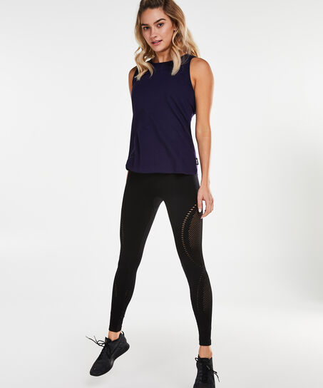 HKMX Laced back top, Blauw