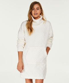 Badjas Fleece dress, Wit