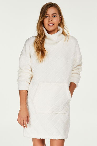 Hunkemöller Badjas Fleece dress Wit