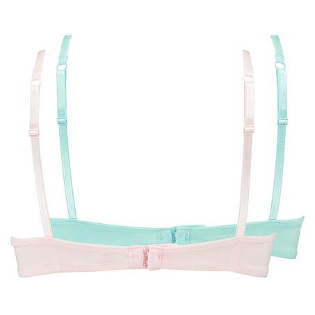 2 voorgevormde beugel bhs Lace Edge, Roze