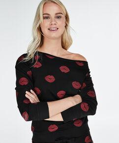 Lange mouwen trui, Zwart