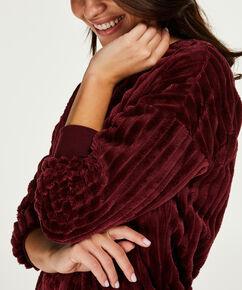 Top lange mouwen fleece, Rood