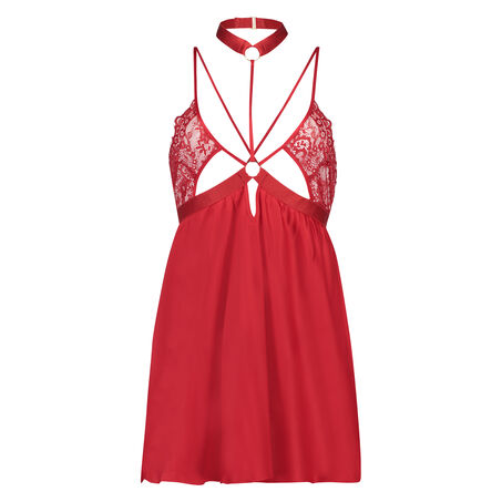 Babydoll satin Kitty, Rood
