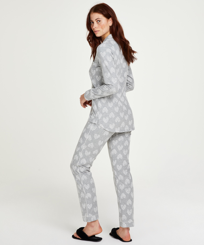 Pyjama set Boyfriend Heart, Grijs, main