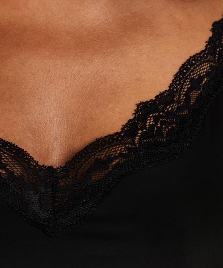 Gladmakende onderjurk kant - Level 1, Zwart